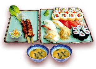 Set Menu Sushi Lieferservice in Berlin (PLZ: 10117, 10115, 10179, 10178, 10785, 10969) - Menue for two